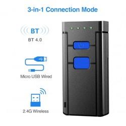 Kieszonkowy mini czytnik kodów kreskowych 2D QR Bluetooth 2.4G kabel USB 2