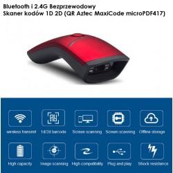 Bezprzewodowy przewodowy i Bluetooth czytnik kodów kreskowych 1D 2D QR Aztec MaxiCode 1800mAh 2