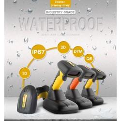 Wodoszczelny przemysłowy 2.4G bezprzewodowy czytnik kodów 1D 2D QR IP67 wodoodporny 2