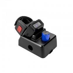 Czytnik kodów na palec 1D 2D QR Aztec 2x aku 550mAh z mini bazą do komunikacji i ładowania baterii 2