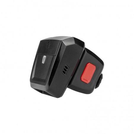 Czytnik kodów na palec 1D 2D QR Aztec 2x aku 550mAh z mini bazą do komunikacji i ładowania baterii