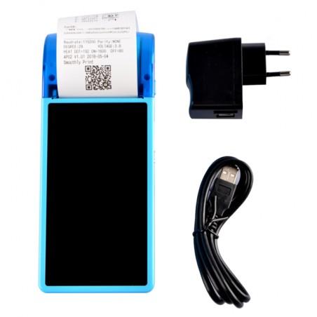 Przenośny terminal z drukarką termiczną Android 8.0 Bluetooth Wifi 3G NFC dotykowy ekran