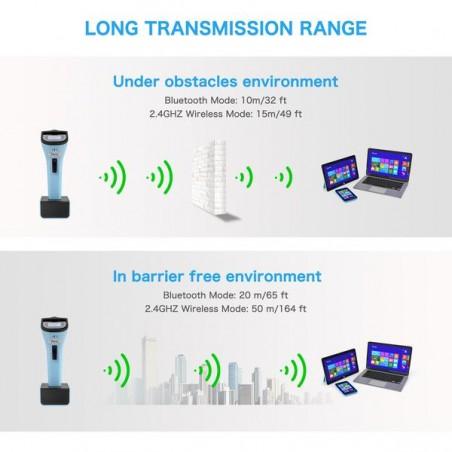 Bezprzewodowy czy kodów kreskowych 2D Bluetooth automatyczny z bazą podstawką