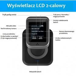 Czytnik kodów kreskowych qr Aztec MAxicode Bezprzewodowy 2.4 i Bluetooth z wyświetlaczem LCD 2