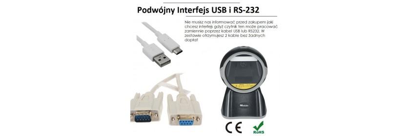 Podwójny interfejs RS232 i USB